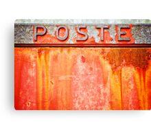 Poste- Italian weathered mailbox Canvas Print