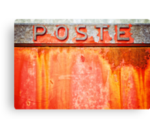 Poste- Italian weathered mailbox Canvas Print