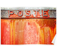 Poste- Italian weathered mailbox Poster