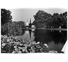BW UK England London Buckingham palace St James Park 1970s Poster
