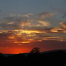 RED...Red Sunset by Stephen J  Dowdell