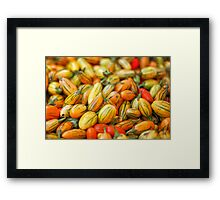 Fresh organic tomatoes at local farmers market Framed Print