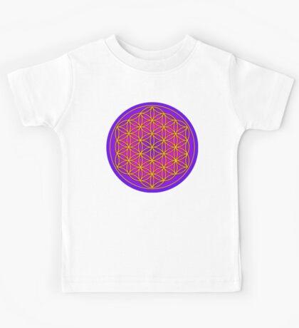 Flower of Life Sacred Geometry Kids Tee