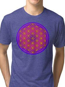 Flower of Life Sacred Geometry Tri-blend T-Shirt