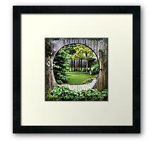 A Garden in Time Framed Print