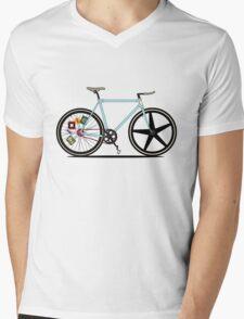 Fixie Bike Mens V-Neck T-Shirt