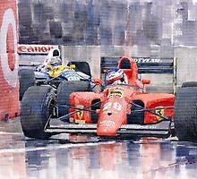 Ferrari F1 Jean Alesi Phoenix US GP Arizona 1991 by Yuriy Shevchuk