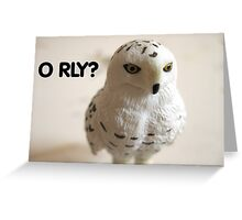 O RLY? Greeting Card