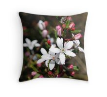 Spring Blossoms # 2 (Rough Wax Plant) Throw Pillow