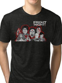 fright night character collage Tri-blend T-Shirt