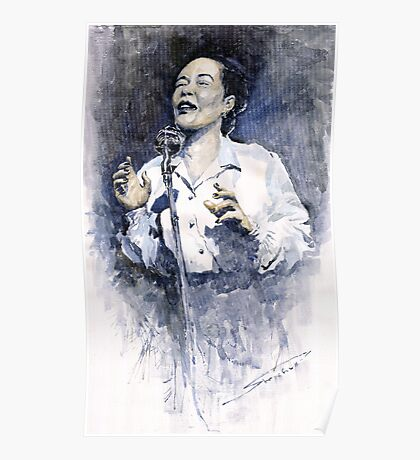 Jazz Billie Holiday Lady Sings The Blues  Poster