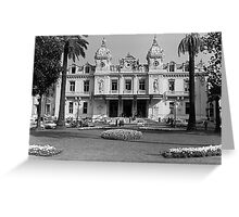 BW Principality of Monaco Monte Carlo Casino 1970s Greeting Card