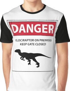 Keep the Gate Closed Sign (Raptors) Graphic T-Shirt