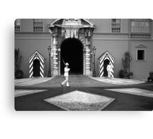 BW Principality of Monaco princely palace 1970s Canvas Print