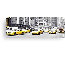 Taxi Parade Canvas Print