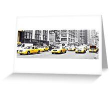 Taxi Parade Greeting Card