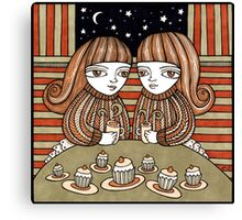 Coffee & Cup Cakes Canvas Print