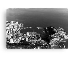 BW Principality of Monaco overview 1970s Canvas Print