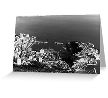 BW Principality of Monaco overview 1970s Greeting Card