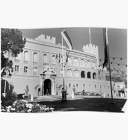 BW Principality of Monaco & princely palace 1970s Poster