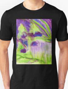Abstract Watercolor Iris Field Purple Blue Green Unisex T-Shirt
