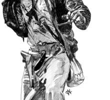 Indiana Jones Hand-drawing Sticker