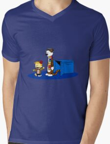 calvin and hobbes and the blue box T-Shirt