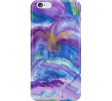Abstract Watercolor Painting Blue Purple Green Yellow iPhone Case/Skin