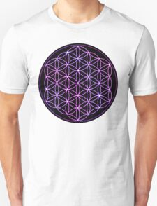 Flower of Life - Pink to Purple T-Shirt