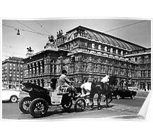 BW Austria Vienna Fiaker Staatsoper opera 1970s Poster