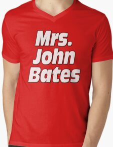 Mrs. John Bates Downton Abbey Mens V-Neck T-Shirt