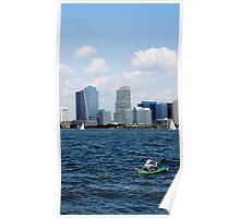 Kayaking on the Hudson Poster