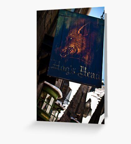 Hogsmeade's Hog's Head Greeting Card
