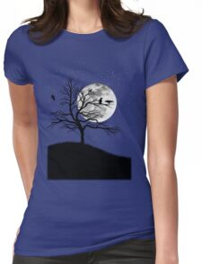 Raven tree Womens Fitted T-Shirt
