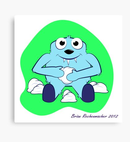 Baby Yeti Canvas Print