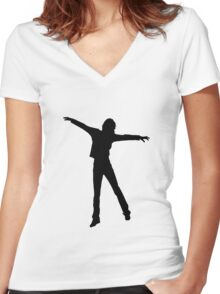 Enjoy the life Women's Fitted V-Neck T-Shirt