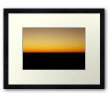 Flatline Horizon Framed Print