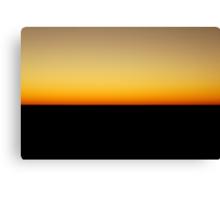 Flatline Horizon Canvas Print