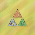 Pokemon Triforce with Background by Colossal