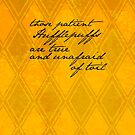 Hufflepuff quote by novillust