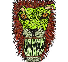 Monster Mondays #2 - Lionel Lion - Anger Monster! - Green by monstermondays