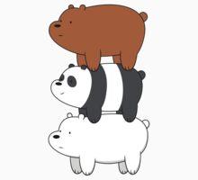 We Bare Bears One Piece - Short Sleeve
