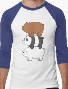 We Bare Bears Men's Baseball ¾ T-Shirt