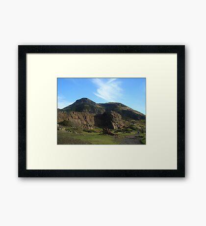 Climbing Arthur's Seat, Edinburgh, Scotland Framed Print