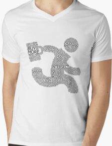 Versus (White) Mens V-Neck T-Shirt