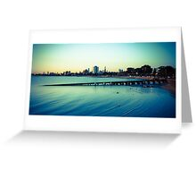 Melbourne by the beach Greeting Card