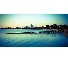 Melbourne by the beach Photographic Print