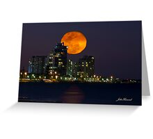 Full Moon Rising, Gold Coast, Queensland, Australia Greeting Card