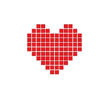 Pixel Heart Photographic Print