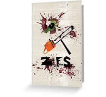 Zombie Fighting Squad Greeting Card